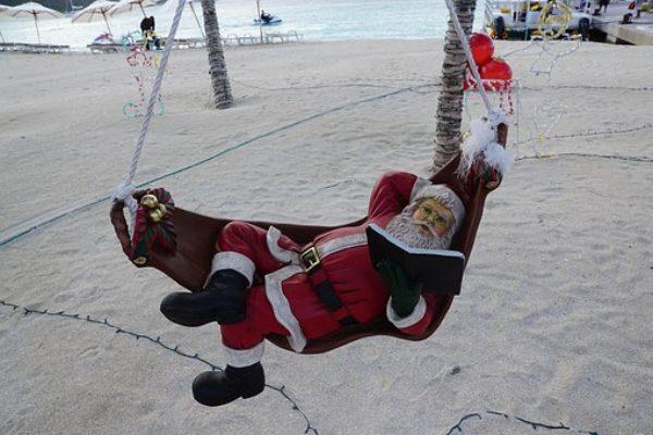 Дядо Коледа на плаж в Австралия