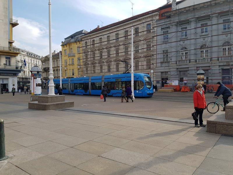 Сините трамваи на Загреб